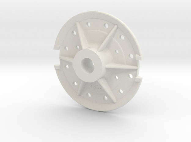Climax Gear Hub 510 -1-20th Scale in White Natural Versatile Plastic