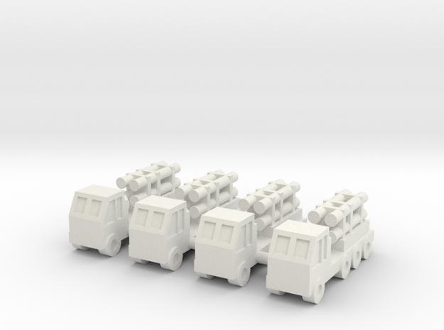 1/350 Harpoon Coastal Defence (x4) in White Natural Versatile Plastic