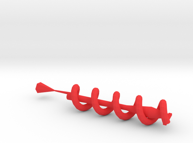 Spiral earphone wrap in Red Processed Versatile Plastic