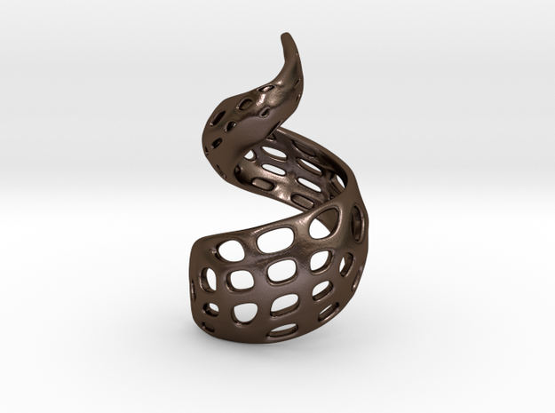 The Twisted Pendant 3d printed