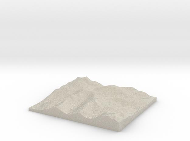 Model of Hart Crag in Natural Sandstone