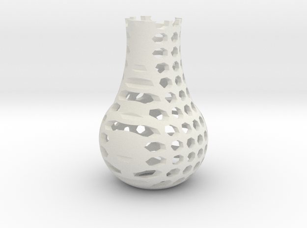Small Sept Vase in White Natural Versatile Plastic