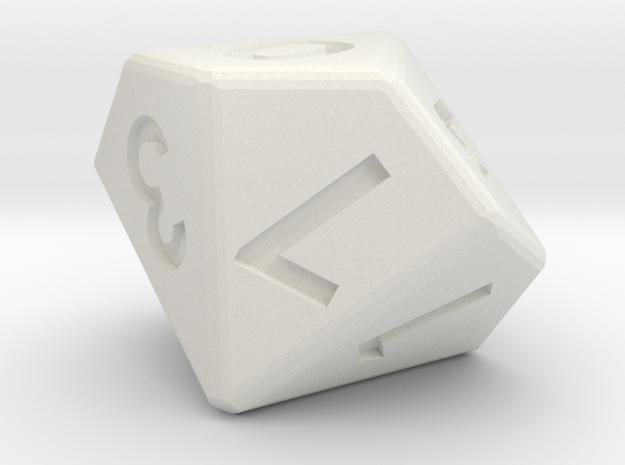 10-sided die (d10) 3d printed