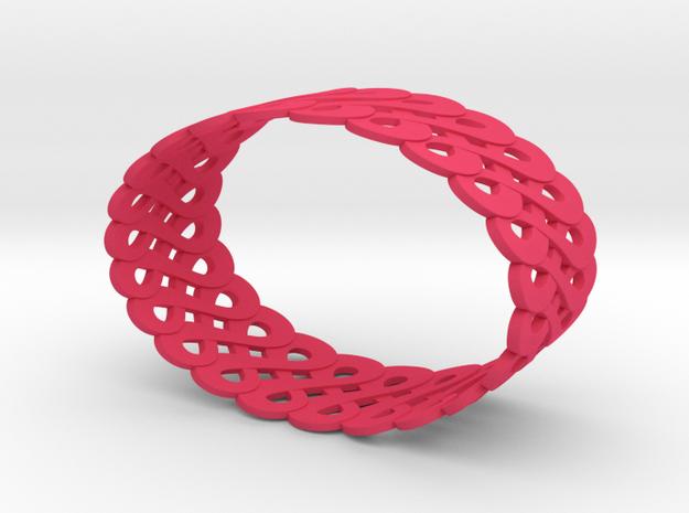 Infinite like loops - Bracelet 3d printed