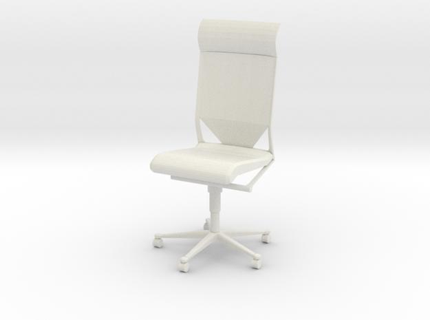 Gi Joe Office Chair in White Natural Versatile Plastic