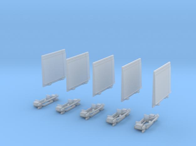 Ladebordwand Glatt MitKlappteil- Kinematik 5x in Smooth Fine Detail Plastic