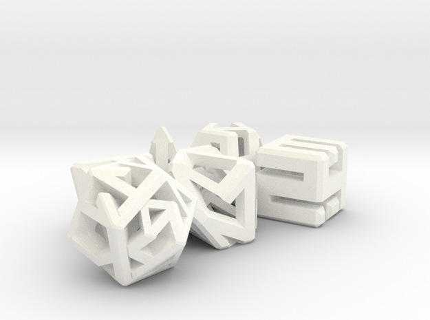 Connect Dice Set 3d printed