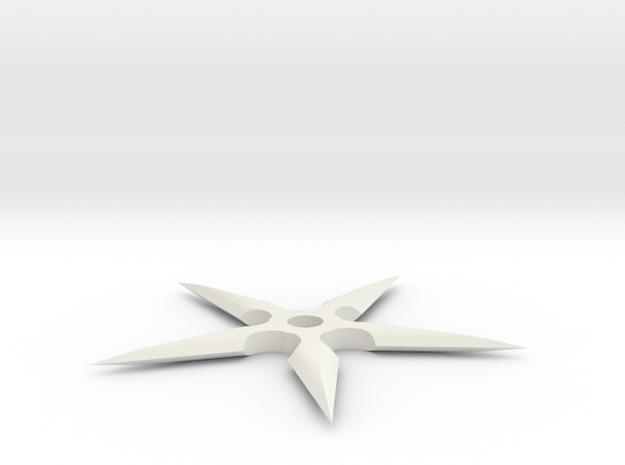 Ninja Star in White Natural Versatile Plastic
