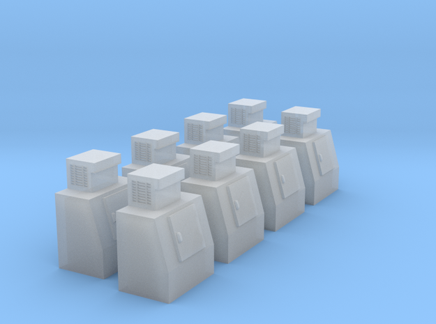 HO-Scale Slant Single Door Ice Cooler (8-Pack) in Smooth Fine Detail Plastic