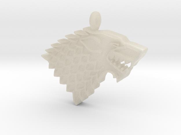 Game of Thrones Stark Direwolf in White Natural Versatile Plastic