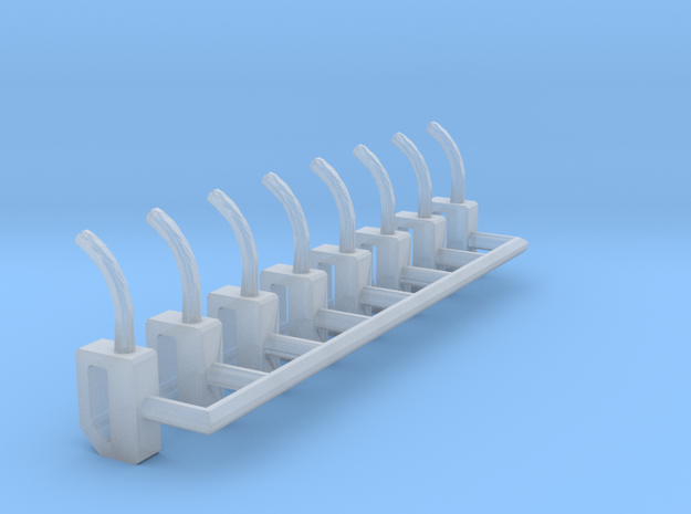 HO-Scale Gas Pump Nozzle (8-Pack) in Smooth Fine Detail Plastic