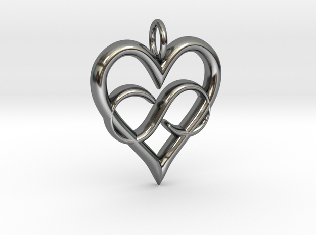 Infinity-heart 3d printed