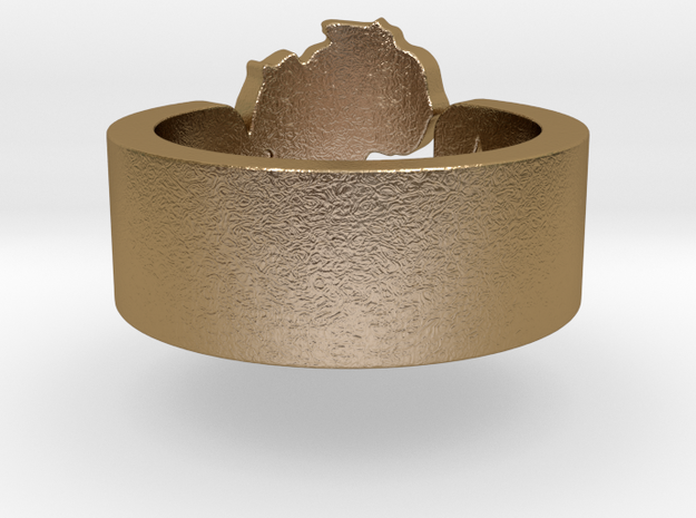 Star of Africa Ring Size 8 3d printed