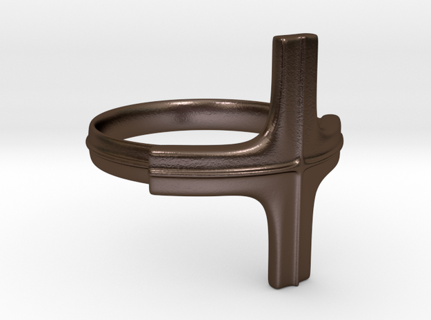 The Engineer's Cross Ring 3d printed