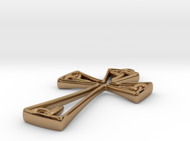 Trinity Celtic Cross 3d printed