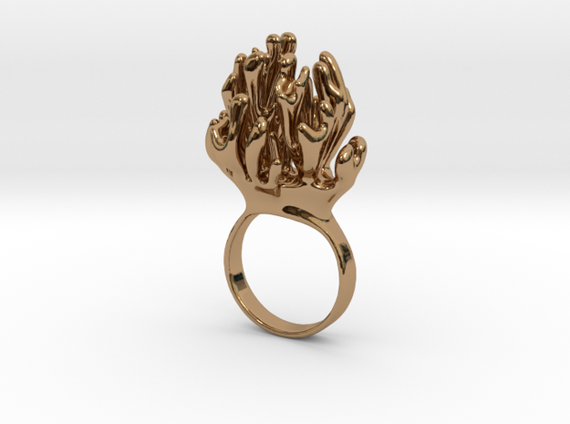 Laplacian Ring sz 7 3d printed