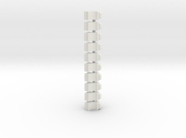 Magazine Follower 10 Pack V2 in White Strong & Flexible