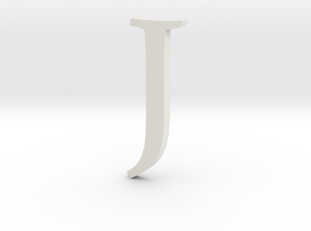 J (letters series) in White Natural Versatile Plastic