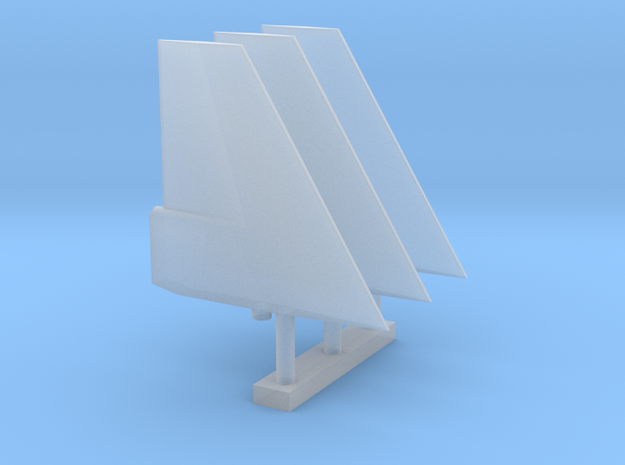 Pegasus 1/96th Fins in Smooth Fine Detail Plastic