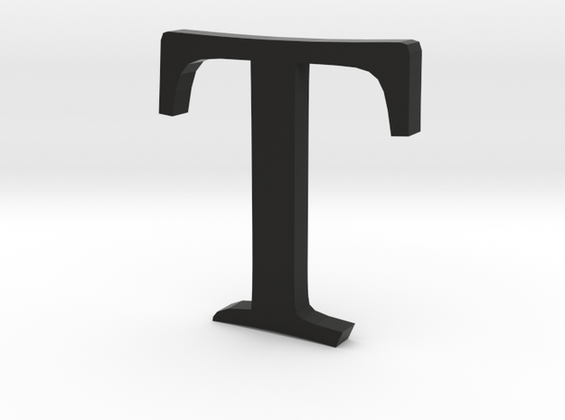 T  (letters series) 3d printed