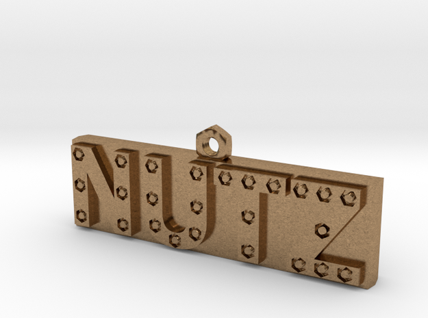 Nutz Letter Bar 3d printed