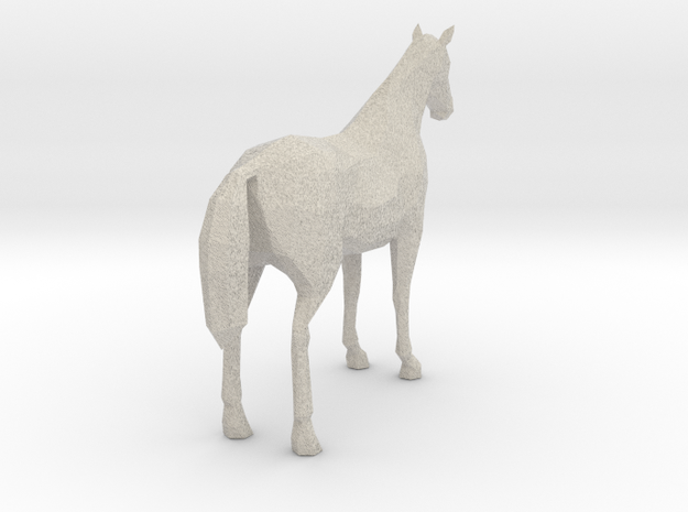 Horse White 3d printed