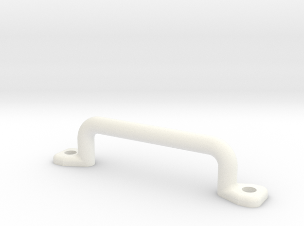18mm Handle in White Processed Versatile Plastic