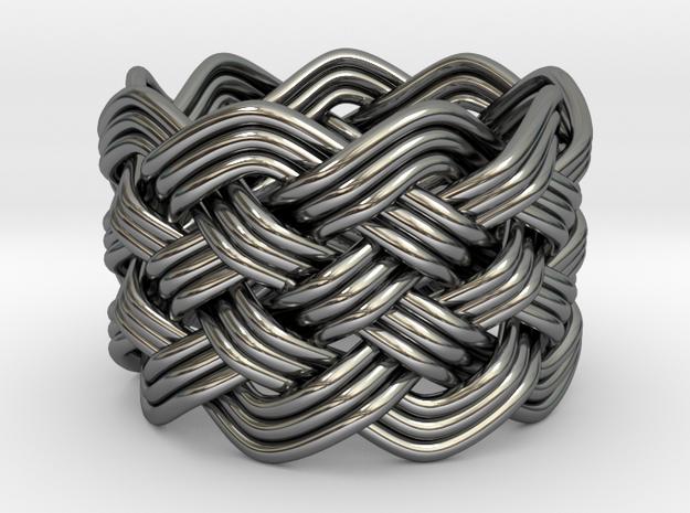 Turk's Head Knot Ring 6 Part X 9 Bight - Size 7.5 3d printed