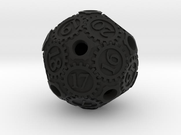 Gearpunk Spindown D20 3d printed