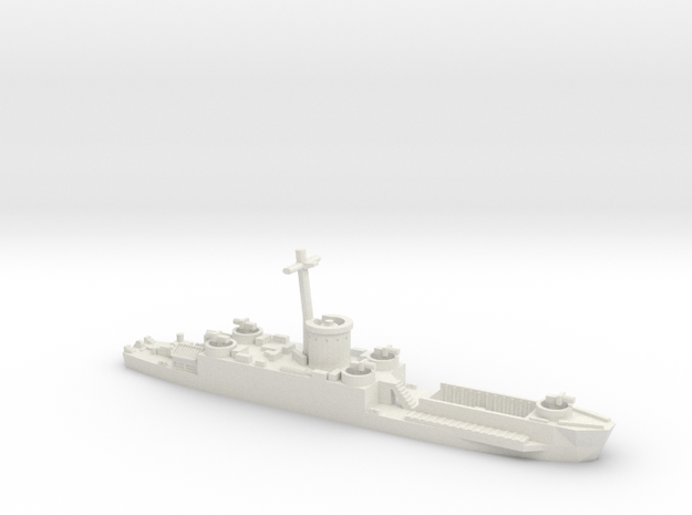 LCI(L) Late Forward Gun Tub 1/700 Scale 3d printed