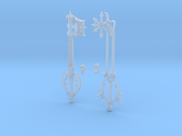 Keyblade Pendants Oathkeeper and Oblivion 3d printed