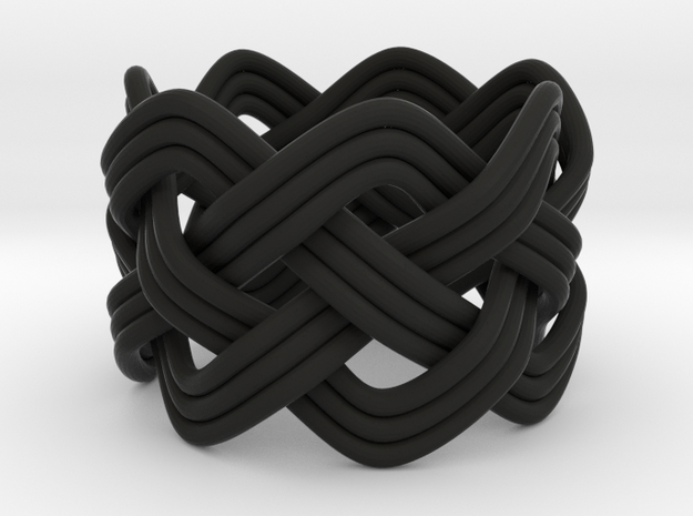 Turk's Head Knot Ring 4 Part X 7 Bight - Size 3.75 3d printed