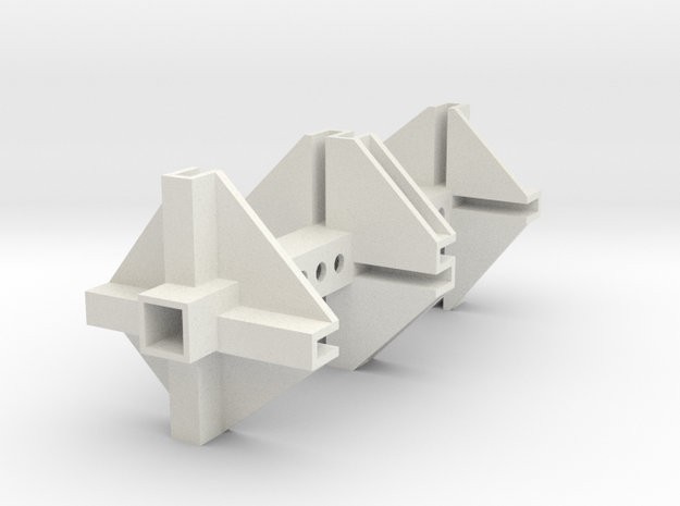TGD-9 Servomount UNI1 in White Natural Versatile Plastic