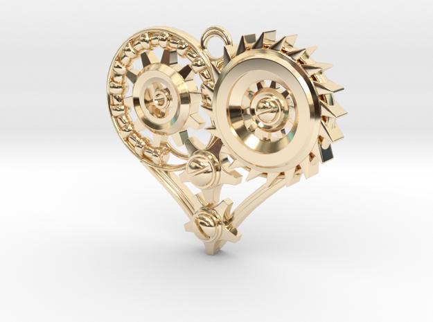 Mech Heart Pendant 3d printed