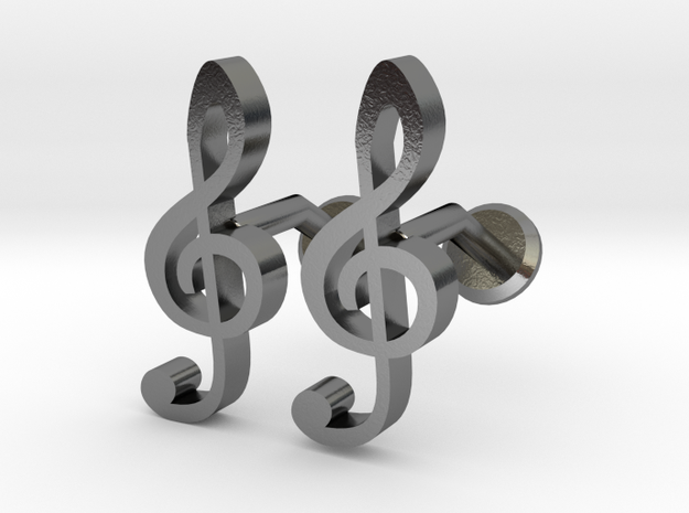 Treble Clef Cufflinks 3d printed