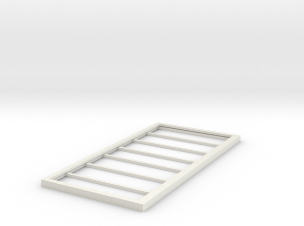 Billboard Frame HO Scale in White Natural Versatile Plastic