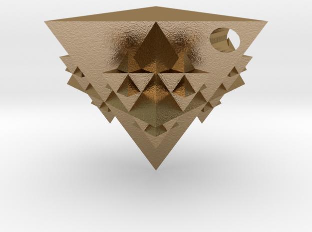 Tetrahedron Fractal Pendant 3d printed