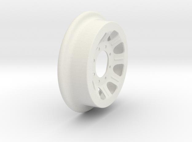 Fairmont Speeder or Handcar Wheel 1:8 scale in White Natural Versatile Plastic