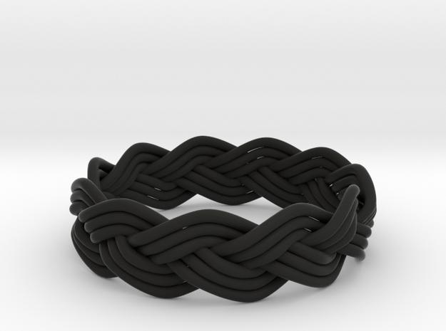 Turk's Head Knot Ring 3 Part X 11 Bight - Size 12. 3d printed