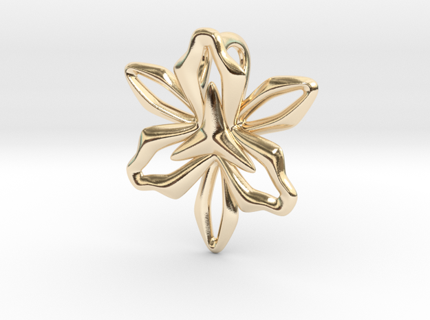 Lily Pendant 3d printed