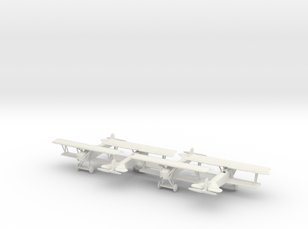 1/144 Fokker D.VII x4 in White Natural Versatile Plastic
