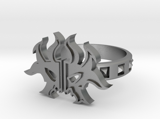 Magic: The Gathering  Rakdos Ring(US Size6) in Polished Silver