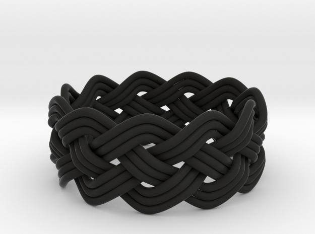 Turk's Head Knot Ring 4 Part X 11 Bight - Size 12 3d printed