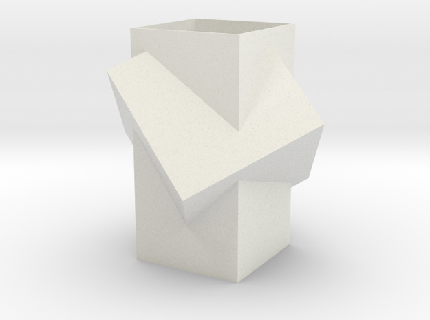 Vase (small) in White Natural Versatile Plastic