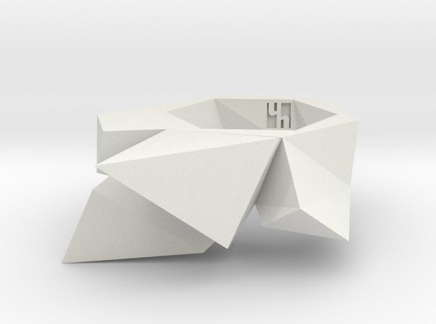 Twist-ring-mutation (medium) in White Natural Versatile Plastic