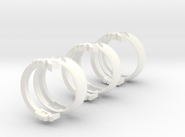 MK Initials Ring 3d printed