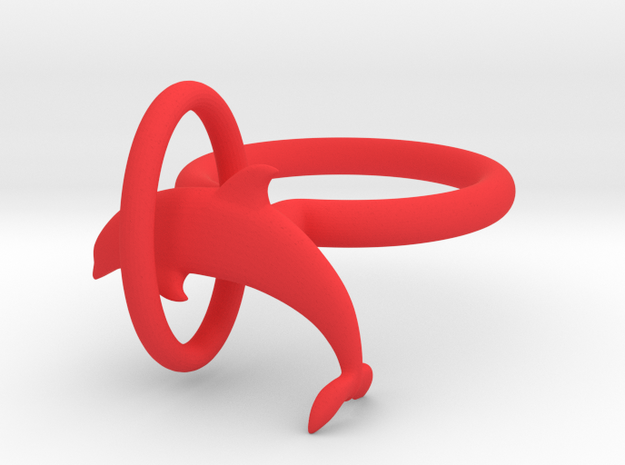 Dolplin Ring (US Size8) 3d printed