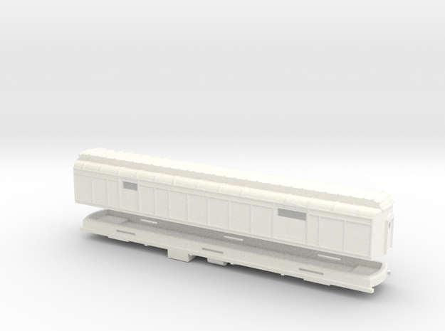Z Scale Pullman Heavyweight Baggage Car in White Processed Versatile Plastic