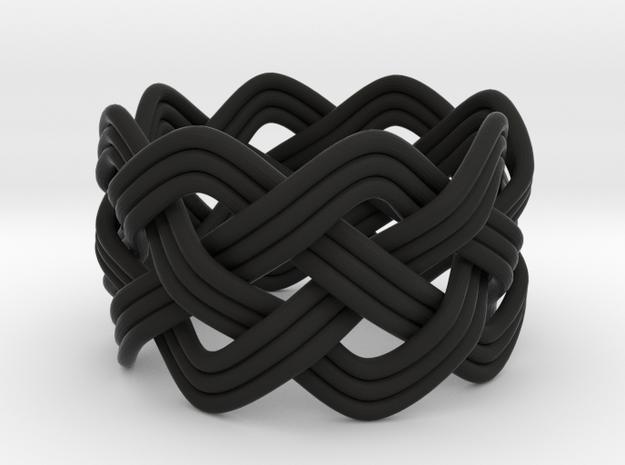 Turk's Head Knot Ring 4 Part X 8 Bight - Size 7 3d printed