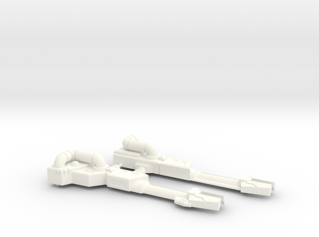 Flame-o Rifle in White Processed Versatile Plastic